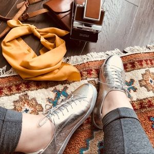 ASOS Silver Metallic Sneakers
